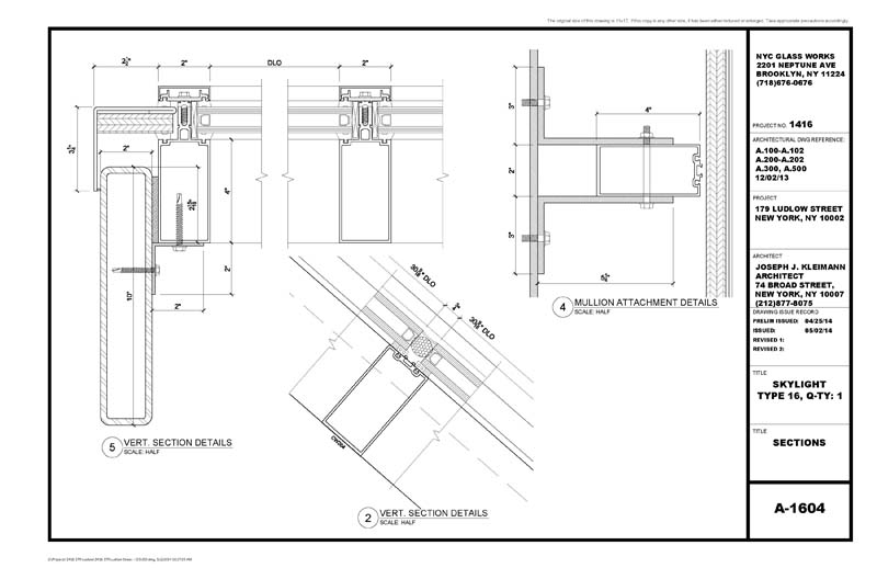 architectural metal glass shop drawings