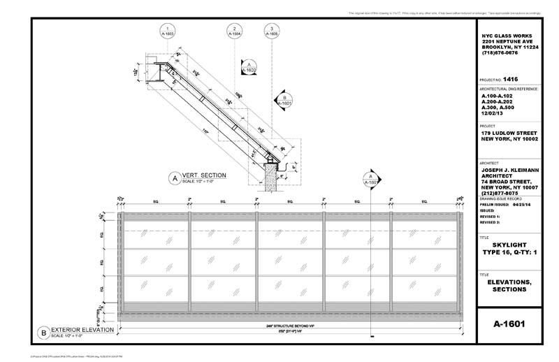 179 Ludlow Street   SKYLIGHT PRELIM Drawing2