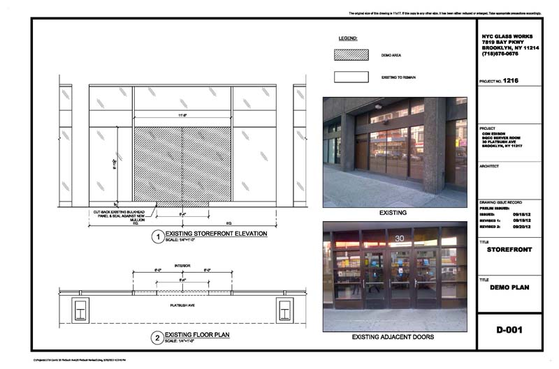 Drawing Glass Window : Architectural metal glass shop drawings