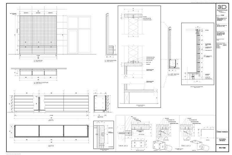 Furniture Shop Drawings Within 1/16""