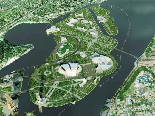 architectural site plan renderings