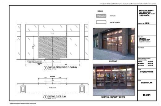 Architectural Glass shop drawings