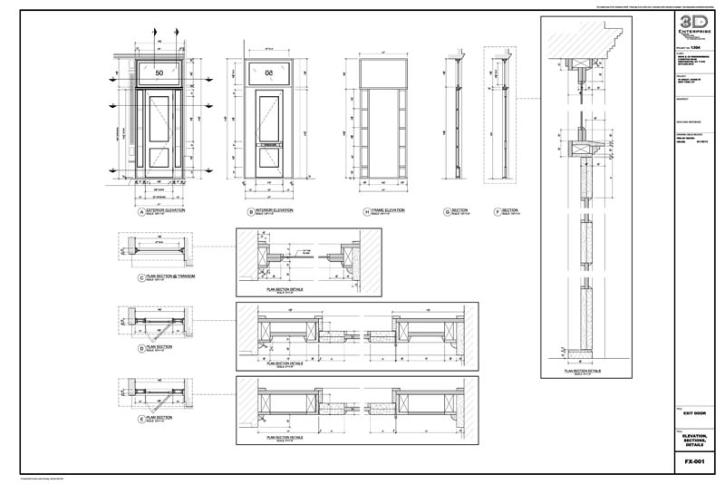 Millwork Shop Drawings