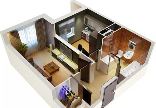 archiectural floor plan rendering miami