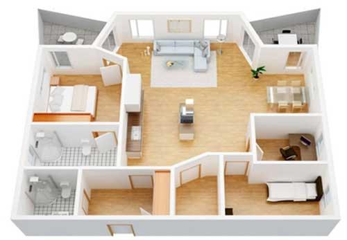 floor plann rendering la