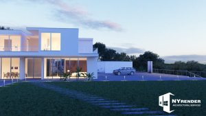 Architectural rendering exterior samples
