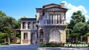 Architectural rendering of prived house