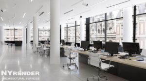 office 3d rendering